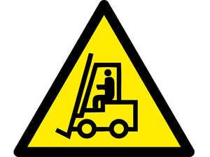 Знак попереджувальний  Увага! Автонавантажувач