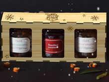 Набор из 3-х джемов в деревянной коробке