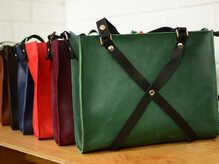"""Женская сумка """"Крестик ХXL"""" с клатчем на молнии"""