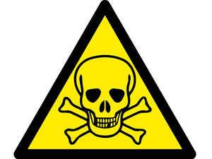 Знак попереджувальний  Отруйні речовини