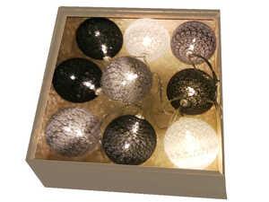Новогодняя гирлянда из светящихся шаров