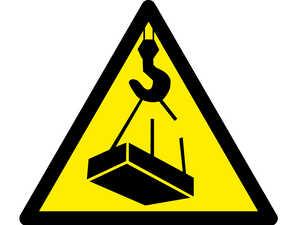 Знак попереджувальний  Обережно можливе падіння вантажу