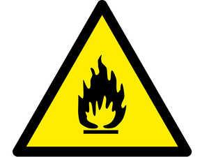 Знак попереджувальний  Вогненебезпечна речовина 250х250