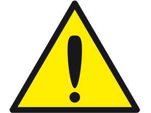 Знак попереджувальний  Загальна небезпека